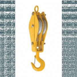 Moitão 100 mm - 2 Roldanas - Capacidade Para 1.300 Kg - Koch