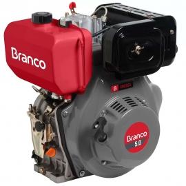 Motor à Diesel - BD 5,0CV - Partida Elétrica e Filtro de Ar à Óleo - Branco