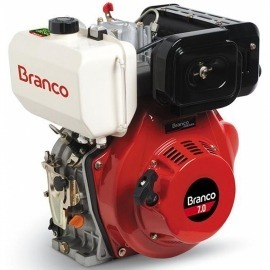 Motor à Diesel - BD 7,0CV - Partida Manual e Filtro de Ar à Óleo - Branco