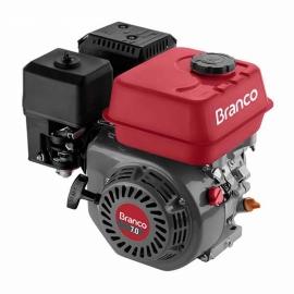 Motor à Gasolina - B4T 7,0CV - Partida Manual sem Alerta de Óleo - Branco