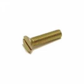 Parafuso rosca máquina com cabeça chata e com fenda simples 5,0x 50mm. nac - Ciser ou Belenus
