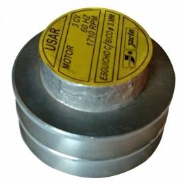 Polia de Alumínio para Motor 3CV Monofásico Blindado
