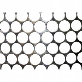 Tela Moeda Inox 430 - Largura 0,35m - Espessura 1,30mm - Furo 24,7mm