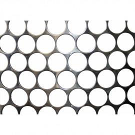 Tela Moeda Inox 430 - Largura 1,00m - Espessura 1,67mm - Furo 24,7mm