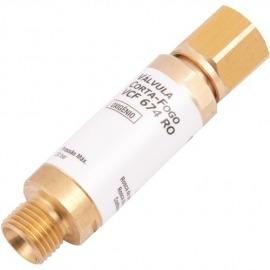 Valvula Seca Corta Chamas para Reguladores - Oxigênio - Famabras