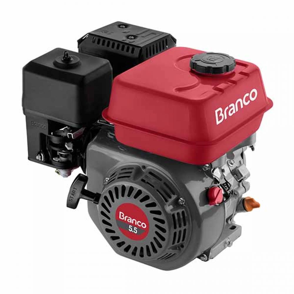 Motor à Gasolina B4T 5,5CV - Partida Manual sem Alerta de Óleo - Branco